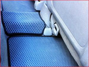 Синие коврики EVA задний ряд сидений