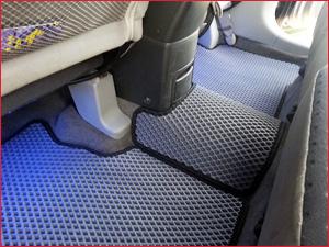 Синий коврик EVA на заднее сидень автомобиля